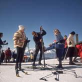 """Jonathan Adler Slim Aarons """"Verbier Skiers"""" Photograph"""