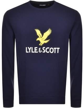Lyle & Scott Crew Neck Logo Sweatshirt Navy