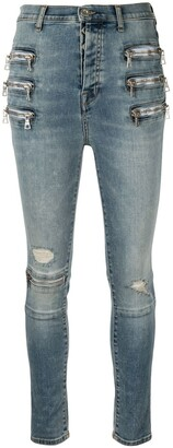 Unravel Project zip-embellished skinny jeans