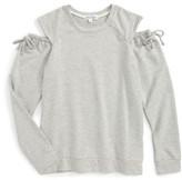 Ten Sixty Sherman Girl's Cold Shoulder Sweatshirt