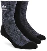 adidas Men's Space Dye Trefoil 3-Pack Socks