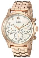 GUESS Women's Stainless Steel Multifunction Casual Watch, Color: Rose Gold-Tone (Model: U1018L3)