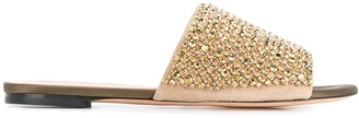 Rochas Embellished Strap Sandals