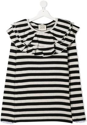 Douuod Kids TEEN striped long-sleeve T-shirt