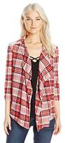 Self Esteem Women's Cayenne Plaid 2 Fer Top