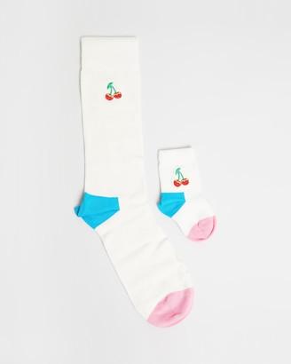 Happy Socks 2-Pack Mini Me Cherry Gift Box