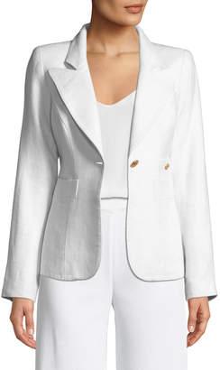 Smythe Duchess One-Button Linen Blazer