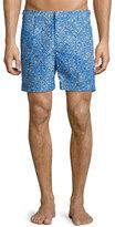 Orlebar Brown Bulldog Geometric-Print Swim Trunks, Blue Pattern