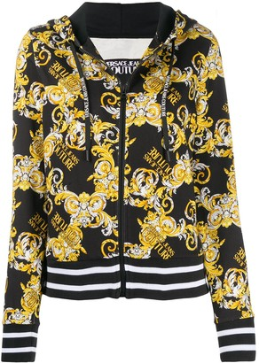 Versace Jeans Couture Logo Baroque-print cotton hoodie