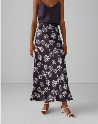 Club Monaco Printed Slip Skirt