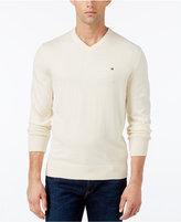 Tommy Hilfiger Men's Pima Cotton and Cashmere V-Neck Sweater