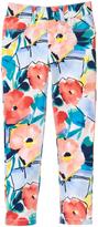 Gymboree Blue & Coral Floral Woven Pants - Girls