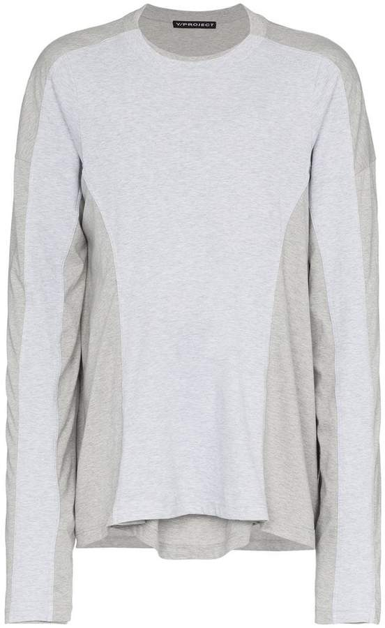 Y/Project Y / Project grey long sleeve double t-shirt
