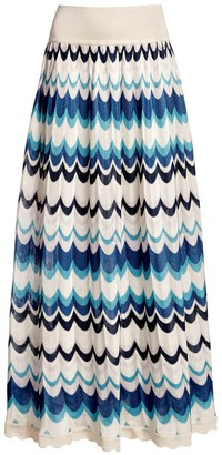 Rumour London Tahiti Wavy Striped Maxi Skirt