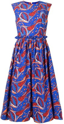 Stella Jean abstract-print A-line midi dress