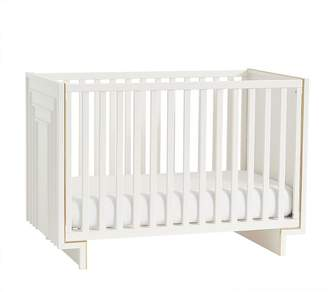 west elm Art Deco Convertible Crib - White