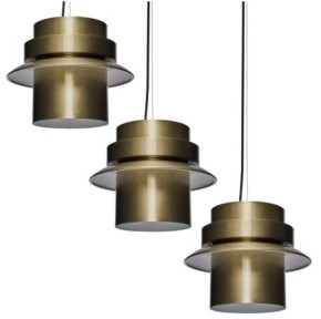 Southern Enterprises Brooklynn Art Deco Pendant Light Collection 3 Piece Set