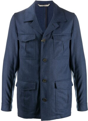 Canali Pocket Detail Wool Jacket