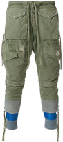Moncler X Craig Green Moncler x Greg Lauren layered distressed cargo trousers