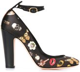 Alexander McQueen 'Obsession' print pumps - women - Leather/Polyester - 37