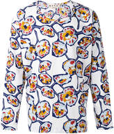 Marni Whisper print collarless shirt
