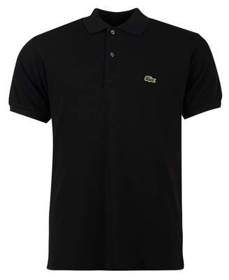 Lacoste Classic Fit Logo Pique Polo Colour: BLACK, Size: SMALL