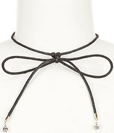 Anna & Ava Cord Bow Choker Necklace