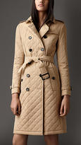 Burberry Long Quilted Gabardine Trench Coat