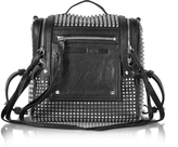 McQ by Alexander McQueen Black Studded Leather Loveless 69 Mini Convertible Box Bag