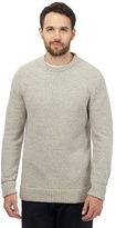 Mantaray Big And Tall Cream Twist Knit Jumper With Wool