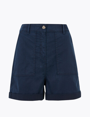 Marks and Spencer Cotton Blend Cargo Chino Shorts