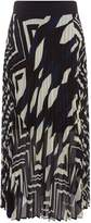 Marella Fiuggi abstract print pleated skirt