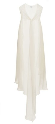 Carine Gilson Lace-trimmed Silk Georgette Cape - Womens - Ivory