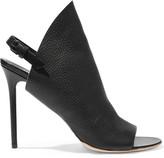 Balenciaga Textured-leather Mules - Black