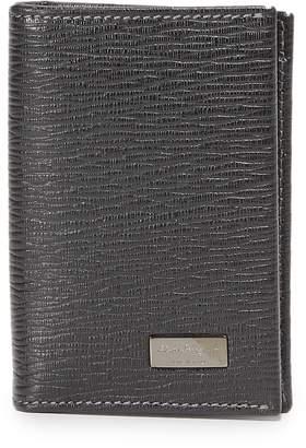 Salvatore Ferragamo Vertical Bifold Card Case with ID Window