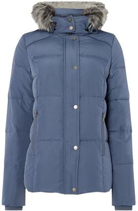 Puffa Maison De Nimes Short Jacket with Faux Fur hood