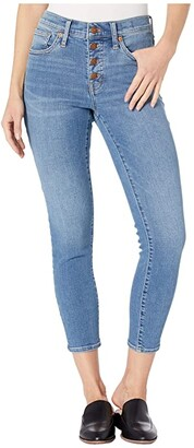 Madewell 9 High-Rise Skinny Crop Button Front in Dewey Wash (Dewey Wash) Women's Shorts