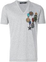 Dolce & Gabbana medal print T-shirt - men - Cotton - 52