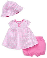 Offspring Girls' Elephant Print Dress, Bloomers & Hat Set - Baby