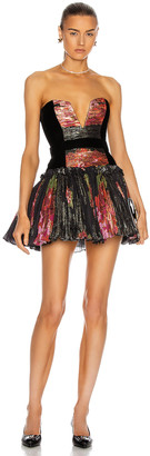 Raisa Vanessa RAISA&VANESSA Strapless Draped Mini Dress in Floral Print   FWRD