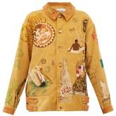BEIGE Bode - Senior Hand-painted Cotton-corduroy Jacket - Womens