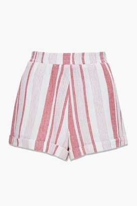Forever 21 Striped Linen-Blend Shorts