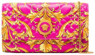 Versace Icon Baroque quilted leather clutch bag