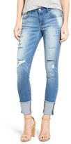 Women's 1822 Denim Destroyed Cuffed Ankle Skinny Jeans