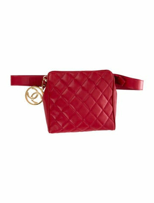 Chanel Vintage Quilted Waist Bag gold