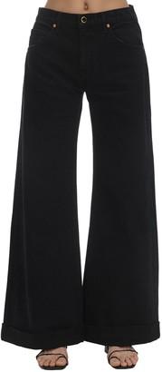 KHAITE Noelle Cotton Denim Wide Leg Jeans