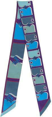 Hermes Pre-Owned Horse Print Skinny Scarf