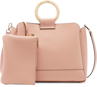 Sole Society Women's Nicoh Satchel 2 Faux Leather In Color: Blush Bag From