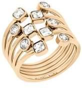 Michael Kors Modern Brilliance Crystal Ring/Goldtone
