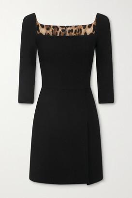 Dolce & Gabbana Wool-blend Crepe Mini Dress - Black
